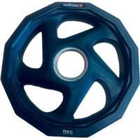 Anilha Olímpica Rubber Com 5 Furos De 5Kg Wellness - Unissex