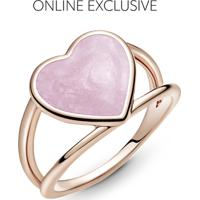 Anel Coração Rosa Espiral Pandora Rose™