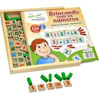 Brincando Com Os Números 114 Peças Em Madeira - Tricae
