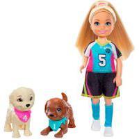 Barbie Chelsea Jogo De Futebol Com Cachorrinhos – Mattel