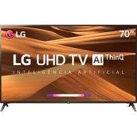 "Smart Tv Led 70"" Uhd 4K Lg 70Um7370 Thinq Ai Hdr Ativo Webos 4.5 Dts"