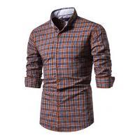 Camisa Xadrez Roanoke Masculina - Marrom