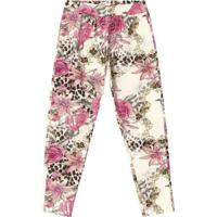 Legging Floral - Off White & Rosa- Primeiros Passos Trick Nick