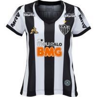 Camisa Do Atlético-Mg I 2019 Le Coq Sportif - Feminina - Preto/Branco