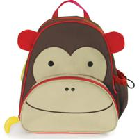 Mochila Infantil Skip Hop Zoo Macaco - Unissex-Marrom+Bege