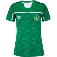 Camisa Do Chapecoense I Umbro 20 - Feminina - Verde/Branco