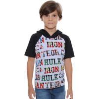 Camiseta Infantil Capuz Os Vingadores Marvel