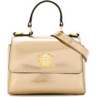 Young Versace Bolsa Tiracolo Metalizada - Dourado