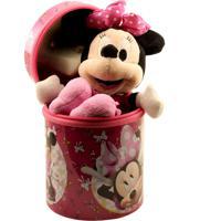 Boneca Chaveiro Minas De Presentes Minnie Rosa 23Cm Na Lata - Disney Rosa
