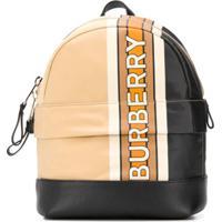 Burberry Kids Mini Nico Stripe Backpack - Neutro