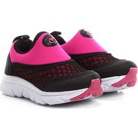 Tênis Bebê Via Vip Jogging Neoprene - Feminino-Preto+Pink