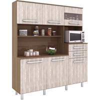 Cozinha Compacta Suprema 6 Pt 2 Gv Montana E Elmo Natural