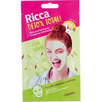 Máscara Facial Para Limpeza E Renovação Ricca Detox Total Com 1 Unidade