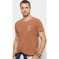 Camiseta Foxton Rio De Janeiro Masculina - Masculino-Café