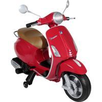 Moto Elétrica Infantil Vespa Bel Brink 913104 Primavera 12V Vermelha