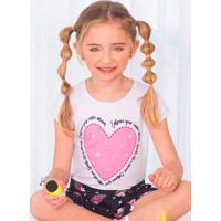 Conjunto Infantil Coração Branco