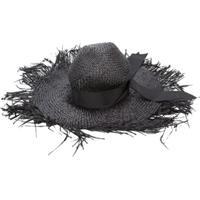 Gigi Burris Millinery Destroyed Sun Hat - Preto