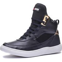 Tênis Sneaker Rock Fit Lennon Preto