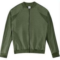 Jaqueta Verde Em Moletinho Flamê