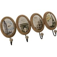 Porta Toalha De Metal Sights Of Paris Com Detalhes De Cerâmica