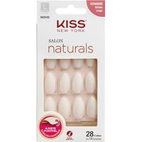 Unhas Postiças Naturais Kiss New York Salon Natural Longo Estileto - Feminino-Incolor