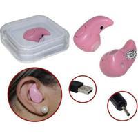 Mini Fone De Ouvido Bluetooth Rosa
