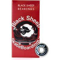 Rolamento Black Sheep Red Skate Patins Patinete Longboard Preto