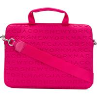 Marc Jacobs Bolsa Para Notebook Com Logo - Pink & Purple