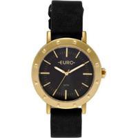 Relógio Euro Spike Fever Casual Feminino - Feminino-Dourado