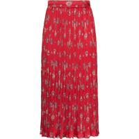 Johanna Ortiz Biblioteca Natural Shell Print Midi Skirt - Vermelho