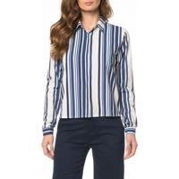 Camisa Ckj Fem Blue Stripes - 38