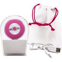Escova Sônica Para Limpeza Facial Bella Mini Recarregável Resistente À Água Rosa Multilaser Hc183