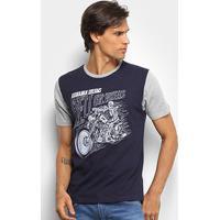 Camiseta Hd Hell On Wheels Masculina - Masculino-Marinho