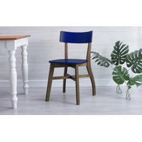 Cadeira Para Computador Bella - Castanho E Azul Bic 44X51X82 Cm