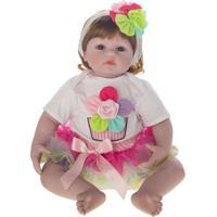 Boneca Laura Baby Flora - Castanho- 50X20X10Cmshiny Toys