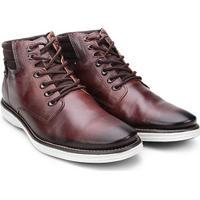 Sapato Social Couro Pegada Masculino - Masculino-Marrom+Branco
