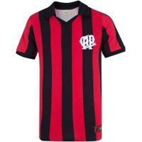 Camiseta Do Atlético-Pr 1990 Retrômania - Masculina - Preto/Vermelho