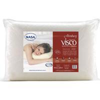 Travesseiro Visco Cervical- Off White- 14X68X48Cm