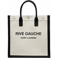 Saint Laurent Bolsa Tote Rive Gauche Com Estampa De Logo - Neutro