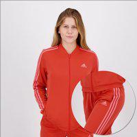 Agasalho Adidas 3 Stripes Feminino Vermelho
