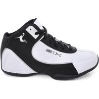 Tênis De Basquete D&R Shoes Masculino - Masculino-Branco+Preto