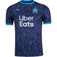 Camisa Olympique De Marseille Ii 20/21 Puma - Masculina - Azul Esc/Azul