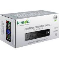 Conversor Digital Terrestre Lemon Lm-300 Fullhd Slim Com Função De Gravação