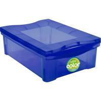 Caixa Organizadora Mã©Dia Color- Azul- 14,4X30,5X42,5Ordene