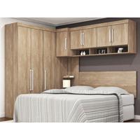 Dormitório De Casal 8 Portas Modena Nogal Touch – Lc Móveis