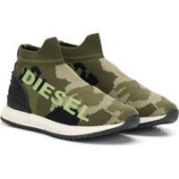 Diesel Kids Tênis Camuflado - Verde