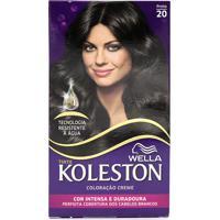Tintura Wella Koleston Kit Creme 20 Preto