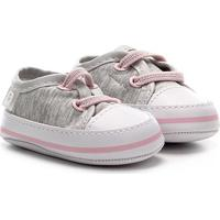 Tênis Infantil Pimpolho Baby Menina Fase 01 - Feminino-Cinza