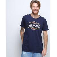 Camiseta Billabong Pacific Masculina - Masculino-Marinho