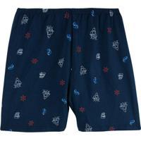 Shorts Azul Náutico Tradicional Masculino